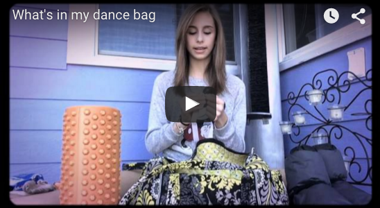 Whats in my dance bag